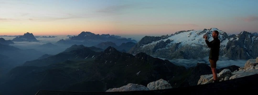 The top of Piz Boe - Central Dolomites