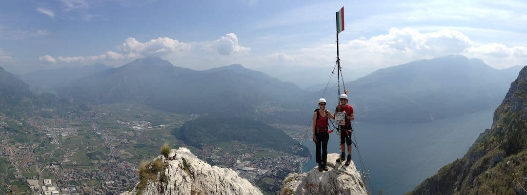 Via Ferrata Dolomites: The top of Cima SAT - Garda Lake area - southwestern Dolomites