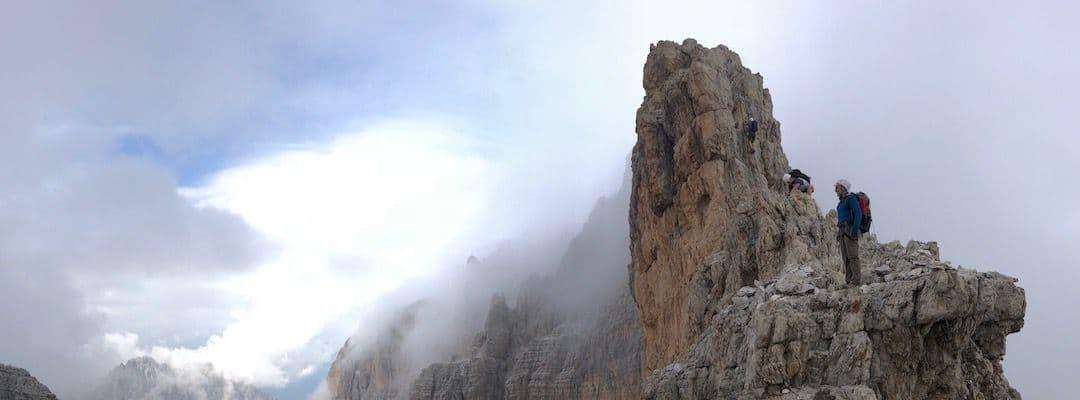 Via Ferrata Dolomites: Via Ferrata delle Bocchette Alte - Brenta - western Dolomites