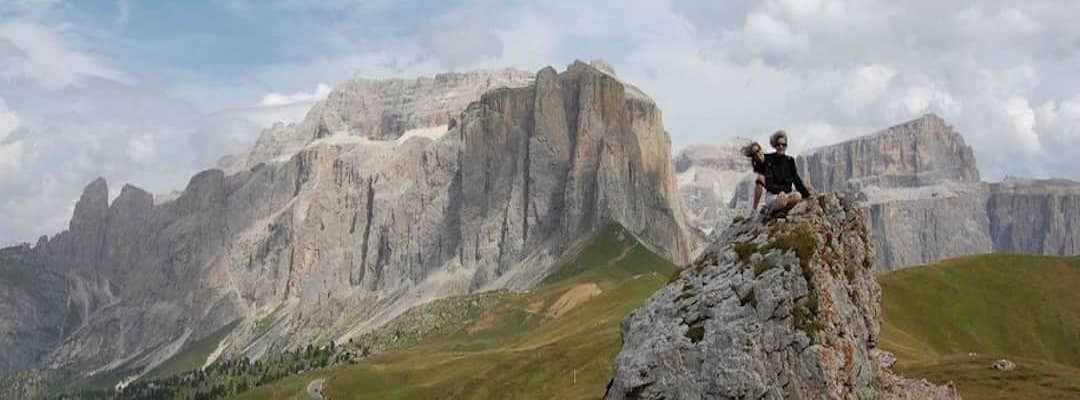 Via Ferrata Dolomites: the Sella pass in the Central Dolomites