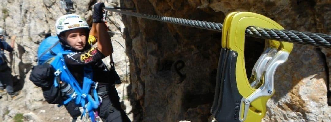 Via Ferrata Dolomites: little heroes on the action