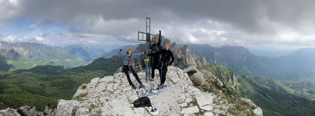 Via Ferrata Dolomites: The peak of the Monte Baffelan at the Pasubio Dolomites - southern Dolomites