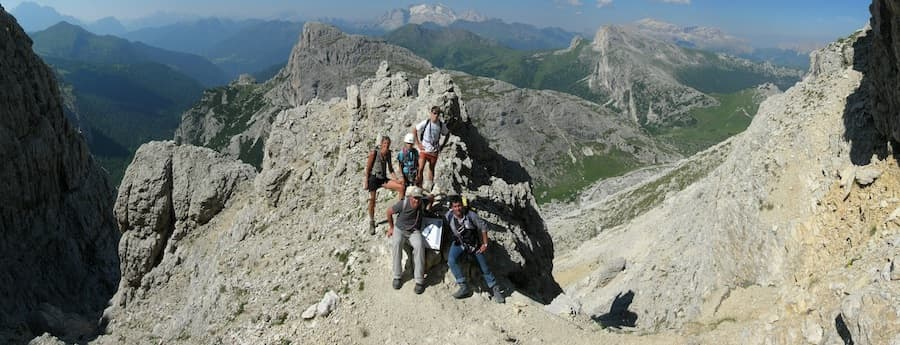 Via Ferrata Dolomites WW1 easy trek 2