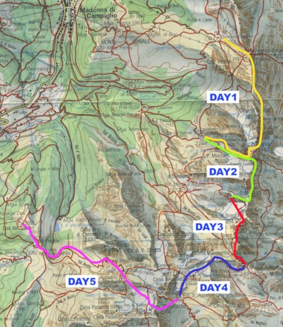 Dolomites Map on