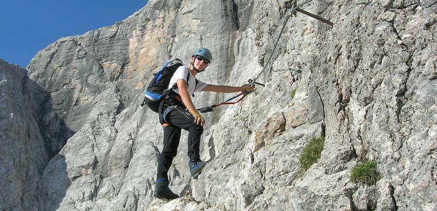 Via Ferrata Dolomites Cortina terza cengia