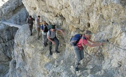 Via Ferrata Dolomites WW1 easy trek 7